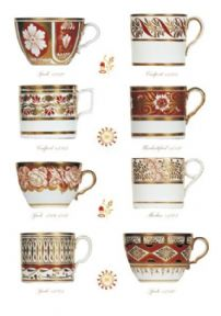 Greeting card - English Georgian cups & cans